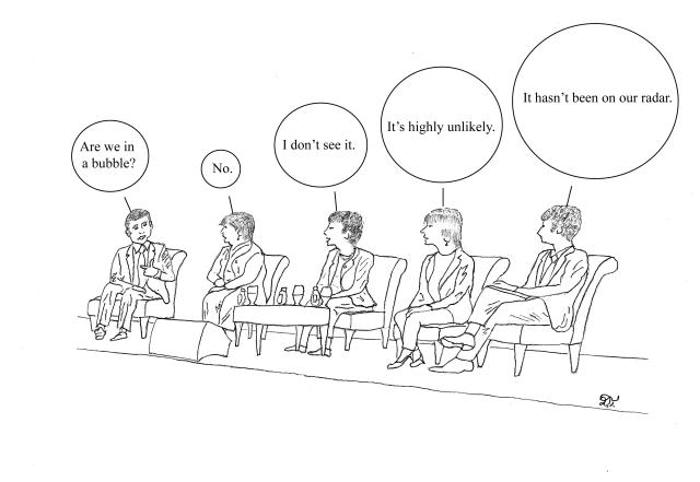 Areweinbubble